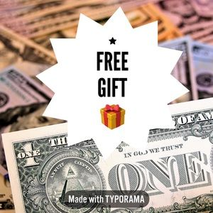 * Free gift with purchase - read description